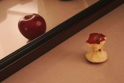 apple in mirror