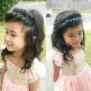 Clothing, Hair, Face, Head, Nose, Mouth, Hairstyle, Child, Happy, Pink,
