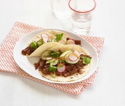 Asian Beef Tacos with Quick Pickles