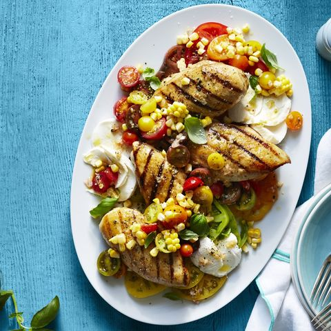 easy chicken dinner recipes  - Grilled Chicken Caprese