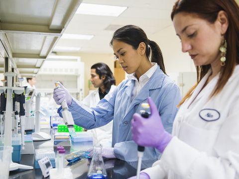 Product, White coat, Laboratory, Fluid, Research, Job, Uniform, Liquid, Safety glove, Scientist,