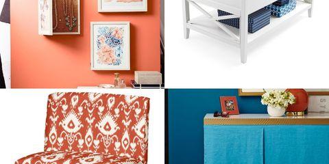 Blue, Room, Interior design, Furniture, Wall, Turquoise, Teal, Orange, Interior design, Aqua,