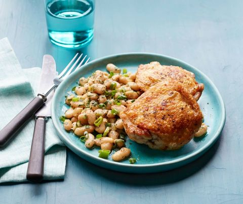 Crispy Chicken and White Beans