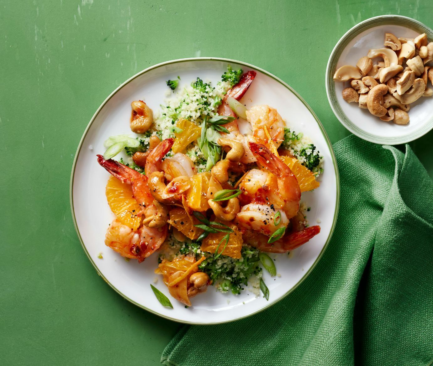 Chili-Orange Shrimp with Broccoli Couscous