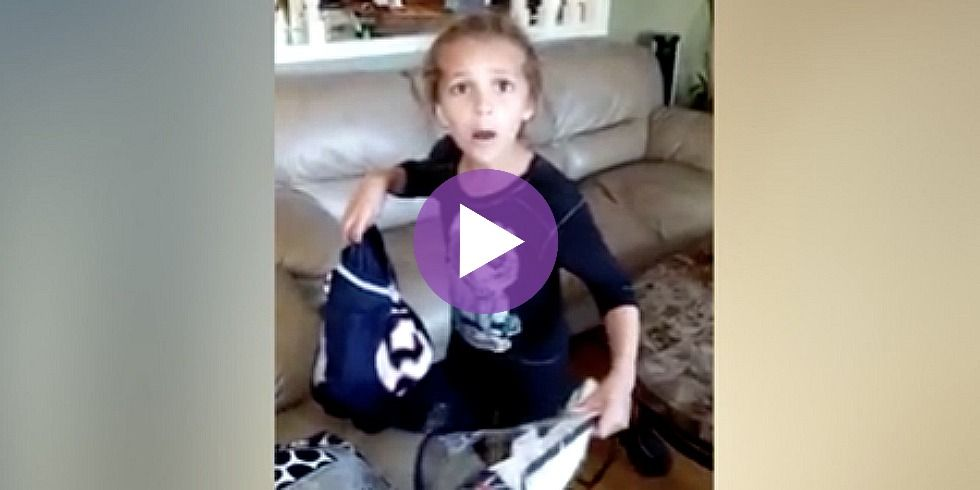 Watch Young Football Fan LOSE IT After Mom Surprises Her With Ultimate Birthday Gift
