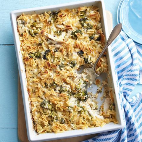 """<p>Trisha Yearwood uses pressure-cooked chicken breasts for the main ingredient in this dish. The rich casserole will feed a crowd or make great leftovers.</p><p><b>Recipe:</b> <a href=""""http://www.delish.com/recipefinder/baked-broccoli-chicken-casserole-recipe-wdy0914""""><b>Baked Broccoli and Chicken Casserole</b></a></p>"""