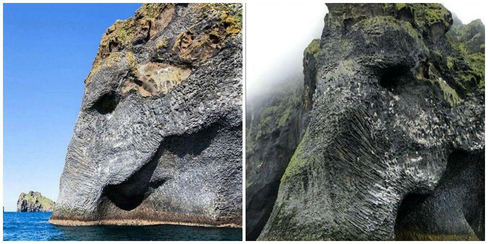 The Elephant Rock On Heimaey Iceland Bay Wa