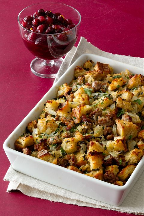 Sausage and Herb Stuffing Thanksgiving Side DishSausage and Herb Stuffing