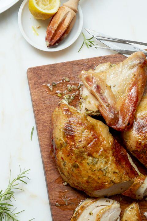 Herb and Lemon-Stuffed Turkey Thanksgiving Dinner