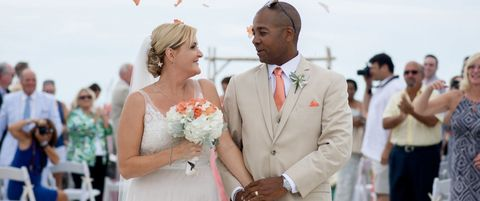 Clothing, Petal, Bouquet, Dress, Coat, Bridal clothing, Photograph, Outerwear, Happy, Suit,