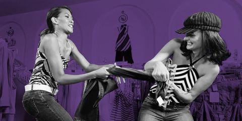 Arm, Purple, Violet, Laugh, Dancer, Choreography, Acting, Abdomen, Makeover, Dance,