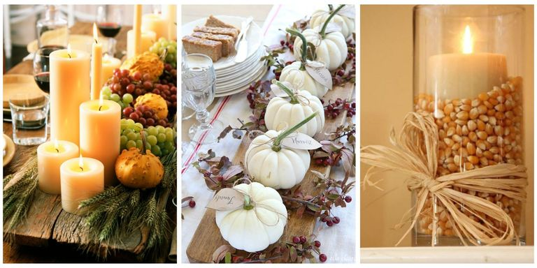 you can easily transform your space into a harvest inspired haven just look to one of the following diy centerpiece ideasaffordable and - Thanksgiving Decoration Ideas