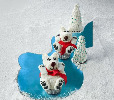 Homemade food gifts for the holidays Polar Bear Cupcakes