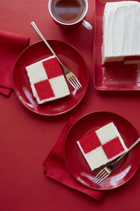 christmas desserts checkerboard cake