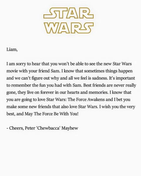 letter to my best friend who passed away 7 year wars fan receives moving letter from 19596