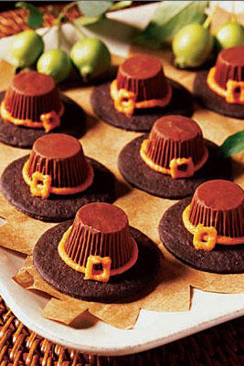 Pilgrim Hat Cookies Thanksgiving Dessert