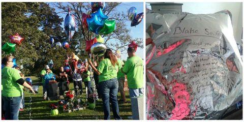 Balloon, Party supply, Hat, World, Garden, Handwriting, Graffiti, Holiday, Mural, Street art,