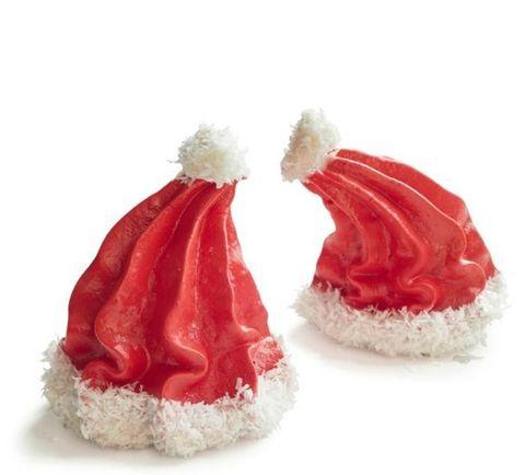 Santa Hat Meringues Christmas Desserts
