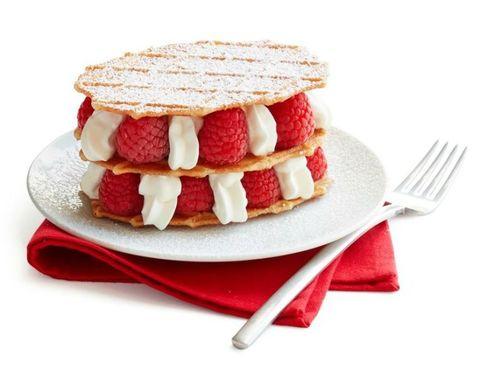 Raspberry and Vanilla Cream Napoleans Christmas Desserts