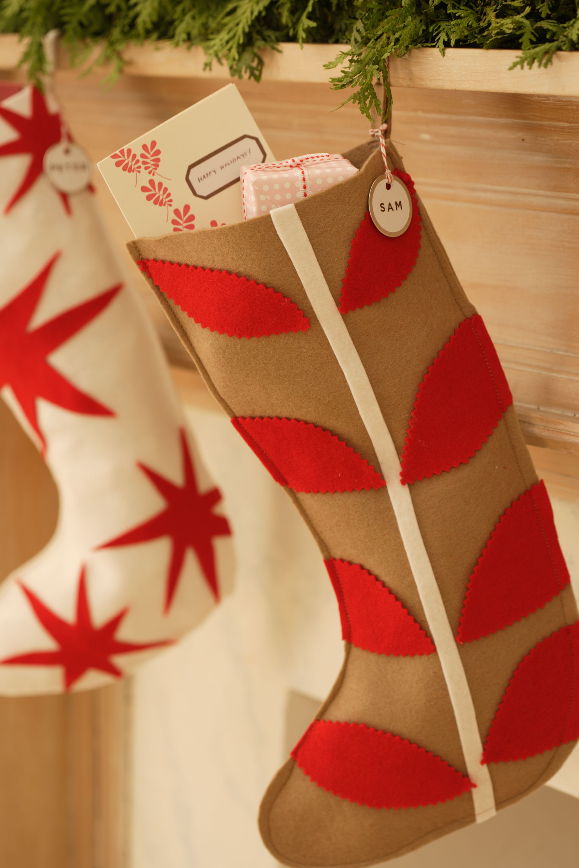 20 diy christmas stockings how to make christmas stockings craft ideas womans day - Christmas Stocking Decorating Ideas