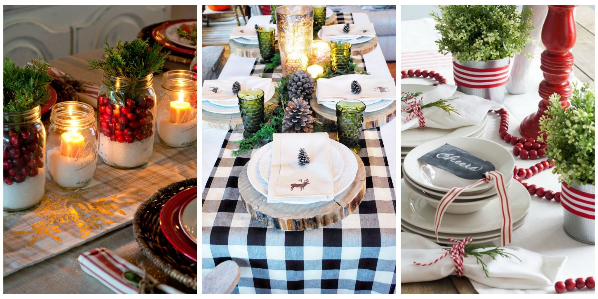 Spruce up your Christmas table with these creative and festive decorations. & 32 Christmas Table Decorations u0026 Centerpieces - Ideas for Holiday ...