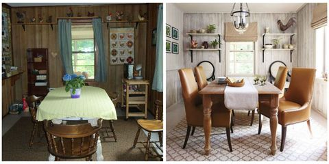 Room, Wood, Interior design, Furniture, Table, Floor, Interior design, Chair, Hardwood, Dining room,