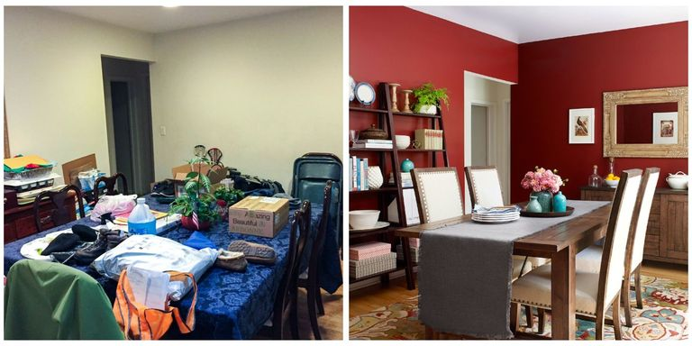 the transformation is unbelievable - Dining Room Makeover Ideas