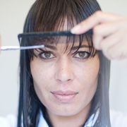 Hair, Lip, Cheek, Finger, Hairstyle, Eye, Skin, Forehead, Eyelash, Eyebrow,