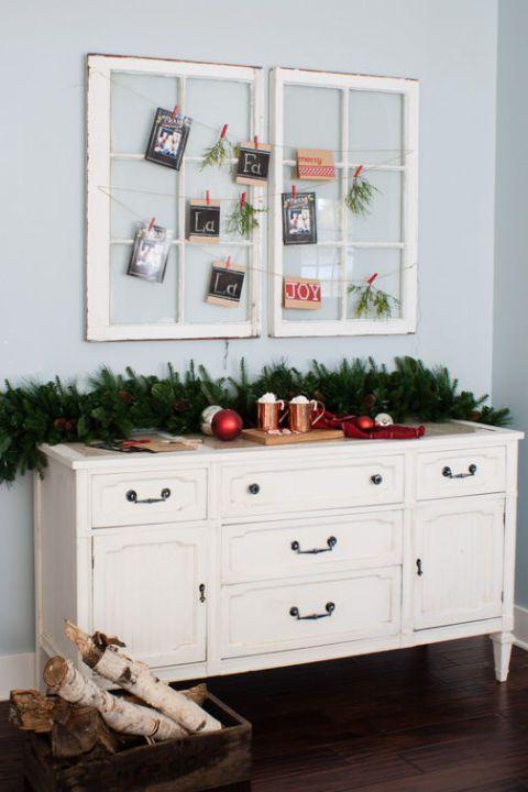 Christmas Card Holder Wonderful Windows