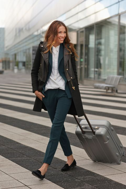 Clothing, Brown, Textile, Standing, Collar, Outerwear, Pedestrian crossing, Style, Coat, Bag,