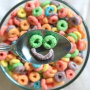 Food, Sweetness, Colorfulness, Confectionery, Kitchen utensil, Cuisine, Recipe, Snack, Breakfast cereal, Spoon,