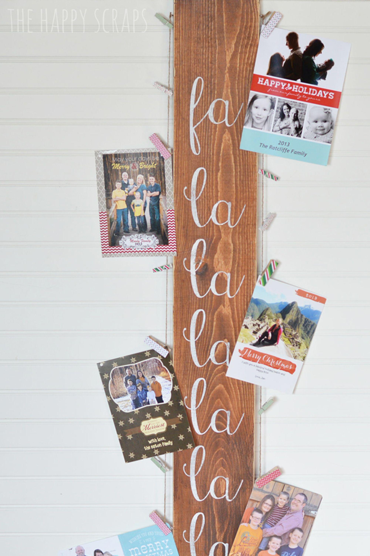 20 DIY Christmas Card Holder Ideas - How to Display Christmas Cards