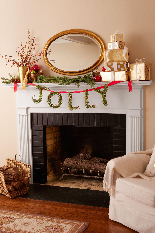 Christmas Decorating Ideas Merry Mantel