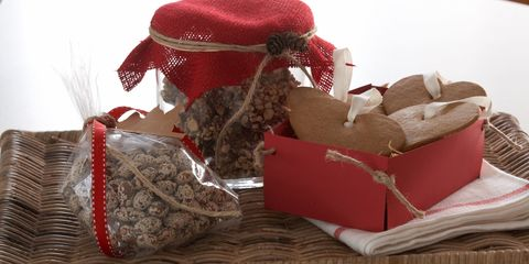 Red, Costume accessory, Carmine, Home accessories, Present, Velvet, Natural material, Basket, Wicker,