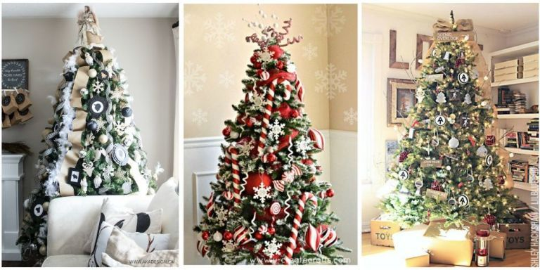 Marvelous 25+ Unique Christmas Tree Decoration Ideas   Pictures Of Decorated  Christmas Trees