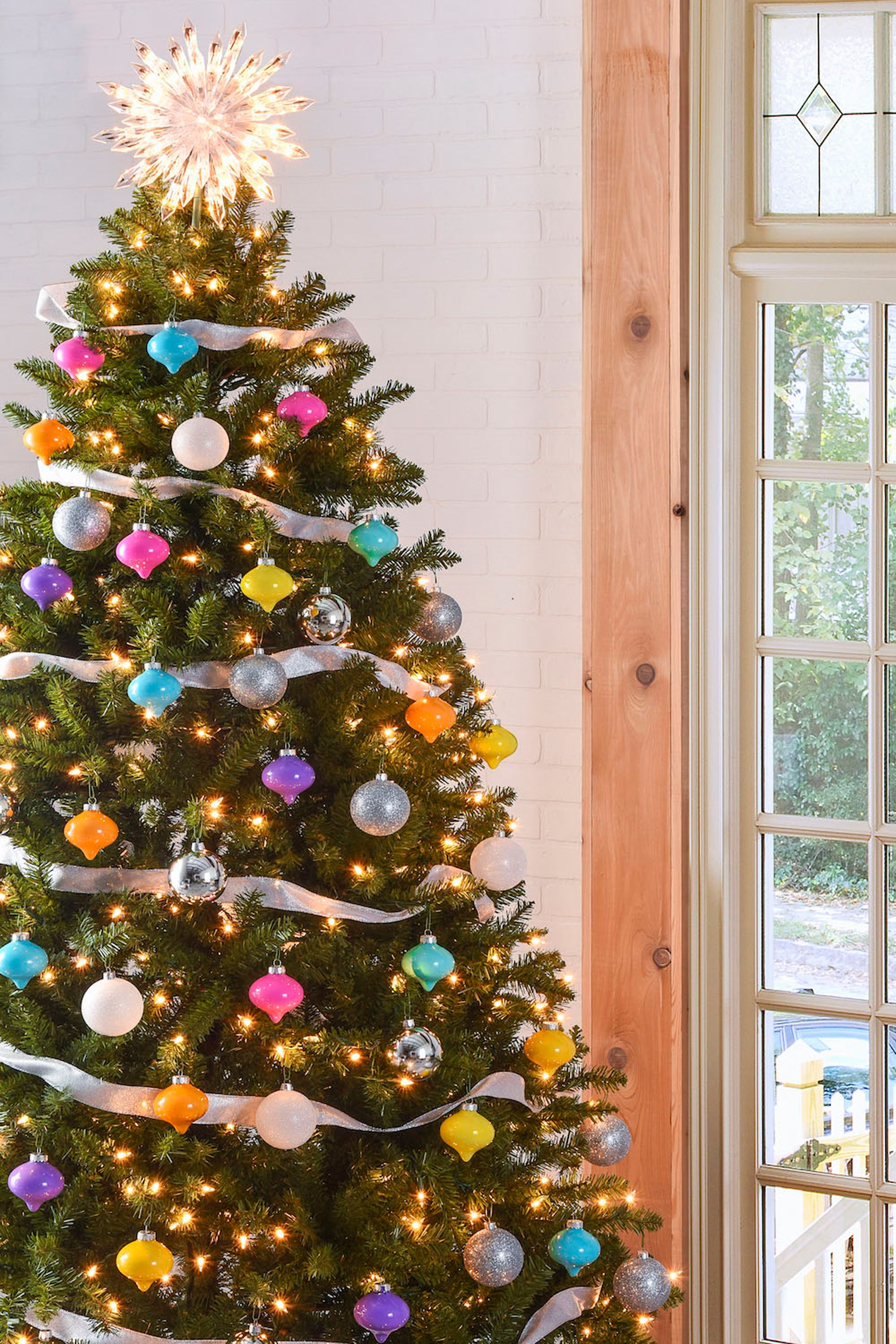 Nice Decorated Christmas Trees Candy Colored Tree
