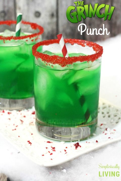 Christmas Drinks Grinch Punch