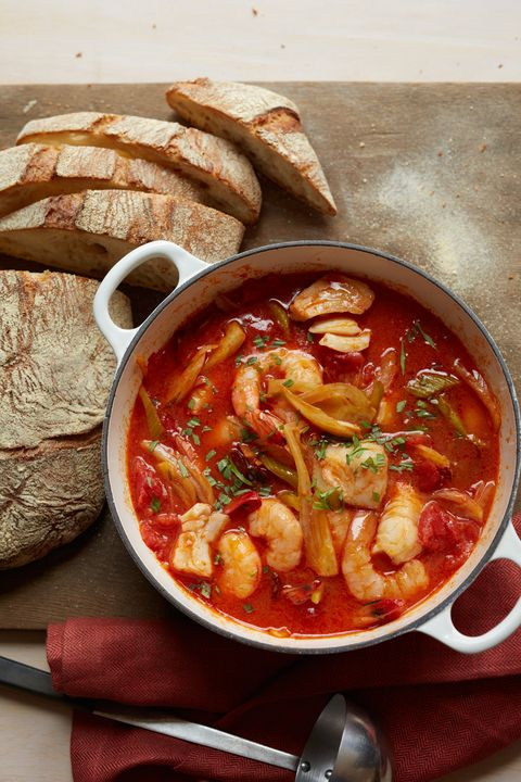 christmas food ideas seafood chorizo and vegetable stew