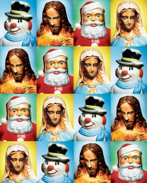 Facial hair, Human, Nose, People, Moustache, Fictional character, Beard, Santa claus, Holiday, Christmas,