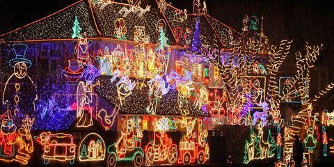 Christmas Houses.Crazy Outdoor Christmas Lights At Womansday Com Photos Of