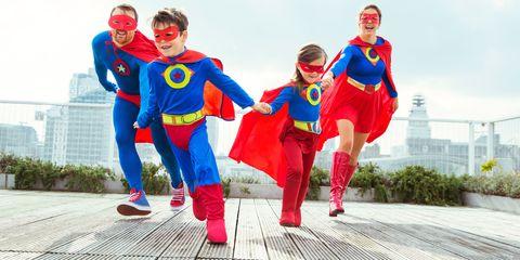 Fictional character, Superhero, Costume, Red, Costume design, Hero, Superman, Electric blue, Cobalt blue, Justice league,