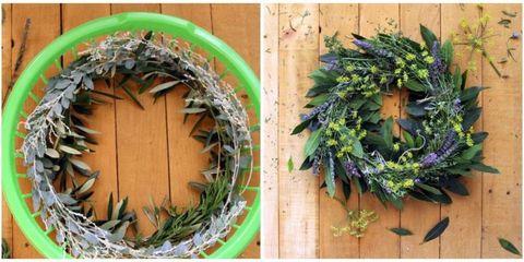 Laundry Basket Wreath