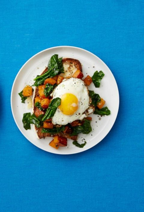 Butternut Squash and Spinach Toasts
