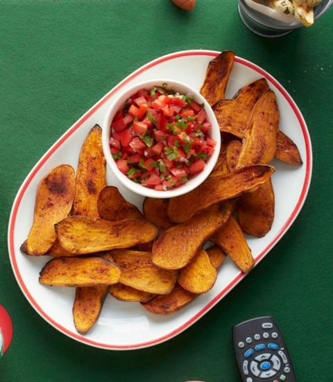 sweet potato skins and pico de gallo