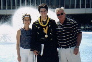 Tim, Emily, and Bill Pittsford at his graduation.