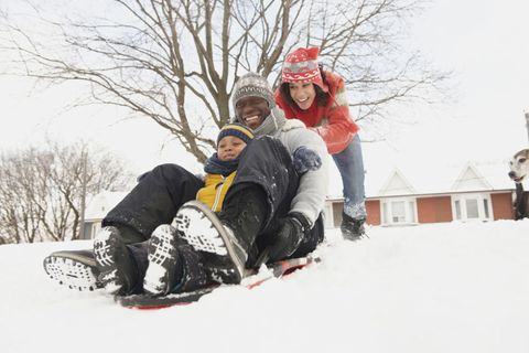 Winter, Winter sport, Snow, Playing in the snow, Freezing, Sled, Glove, Snow boot, Sledding, Outdoor shoe,