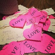 Pink, Magenta, Carmine, Heart, Handwriting, Paper product, Paper, Love, Valentine's day, Sweetness,