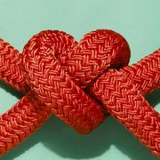 Red, Carmine, Knot, Ribbon, Teal, Rope, Craft, Hair accessory,