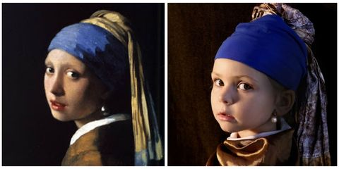 Lip, Cheek, Eye, Iris, Headgear, Costume accessory, Electric blue, Cobalt blue, Portrait photography, Costume,