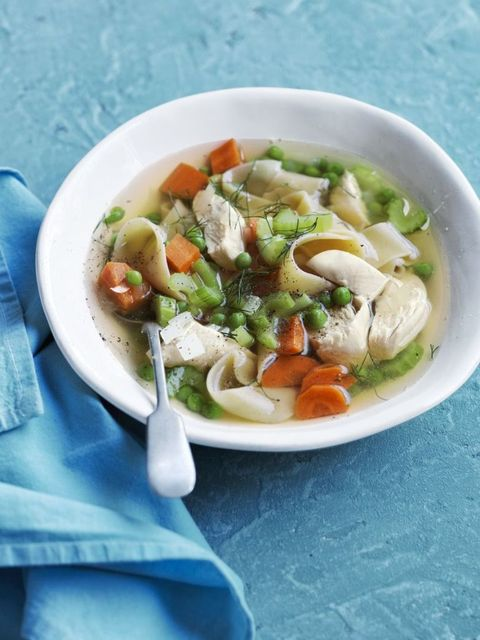 Recipe for slow-cooker chicken noodle soup.